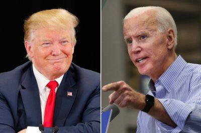 Donald Trump versus Joe Biden 1